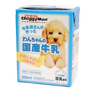 (まとめ)ドギーマンハヤシ わんちゃんの国産牛乳 200ml 【犬用・フード】【ペット用品】【×24セット】