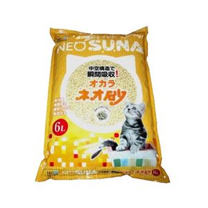 【訳あり・在庫処分】(まとめ)ネオ砂オカラ6L 【ペット用品】【×8セット】