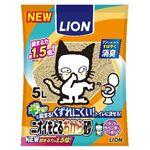 (まとめ) ライオン商事 新ニオイをとるおから砂 5L 【ペット用品】 【×8セット】