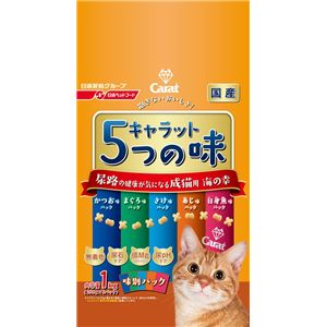 (まとめ) 日清ペットフード キャラット5つの味 海 尿路1kg 【ペット用品】 【×6セット】