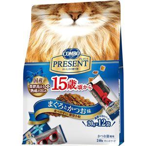 (まとめ) 日本ペットフード コンボキャットPドライ15歳Mかつお240g 【猫用・フード】 【ペット用品】 【×12セット】