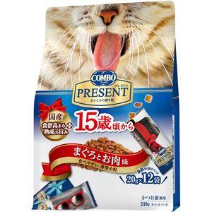 (まとめ) 日本ペットフード コンボキャットPドライ15歳Mお肉240g 【猫用・フード】 【ペット用品】 【×12セット】