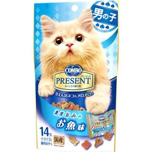 (まとめ) 日本ペットフード コンボPおやつ男の子お魚味42g 【ペット用品】 【×30セット】
