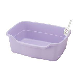 【訳あり・在庫処分】リッチェル NEWコロル ネコトイレ F60 紫 【ペット用品】
