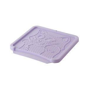 リッチェル NEWコロル 猫の砂取りマット 紫(猫用・フード)【ペット用品】