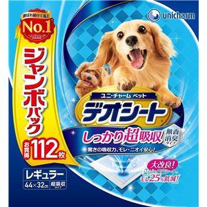 (まとめ)ユニ・チャームデオシート超吸収無香消臭レギュラー112枚【ペット用品】【×4セット】