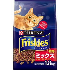 (まとめ)ネスレ フリスキードライ お肉ミックス 1.8Kg (猫用・フード)【ペット用品】【×6 セット】