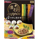 (まとめ)日清ペットフード 懐石ZEPPIN5つのしあわせ 220g (猫用・フード)【ペット用品】【×12 セット】