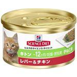 (まとめ)日本ヒルズ・コルゲート SDキトン子猫用レバー&チキン82g (猫用・フード)【ペット用品】【×24 セット】
