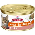 (まとめ)日本ヒルズ・コルゲート SDアダルト成猫用サーモン82g (猫用・フード)【ペット用品】【×24 セット】