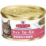 (まとめ)日本ヒルズ・コルゲート SDライト肥満傾向の成猫用82g (猫用・フード)【ペット用品】【×24 セット】