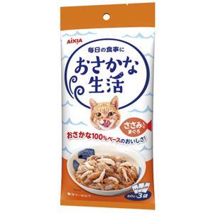 (まとめ)アイシア おさかな生活ささみ入りまぐろ180g (猫用・フード)【ペット用品】【×24 セット】
