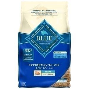 (まとめ)ブルーバッファロー 成犬用 チキン&玄米 2.5kg【×4セット】【ペット用品・犬用フード】