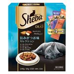 (まとめ)シーバ デュオ 旨みがつお味セレクション 240g【×12セット】【ペット用品・猫用フード】