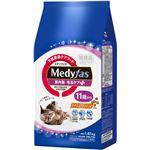 (まとめ)メディファス 室内猫 毛玉ケアプラス 11歳から チキン&フィッシュ味 1.41kg(235g×6)【×6セット】【ペット用品・猫用フード】