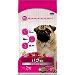 (まとめ)ウェルケア パグ専用 シニアステージ 3kg【×4セット】【ペット用品・犬用フード】