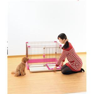 お掃除簡単サークル 90-60 ピンク【ペット用品】