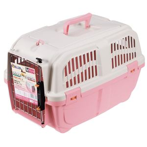イタリア製ハードキャリー DOGGY EXPRESS M ピンク【ペット用品】
