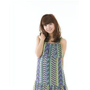 コスプレ女子会・結婚式余興前髪ウィッグ MA-2 ブラウン(耐熱) - 拡大画像