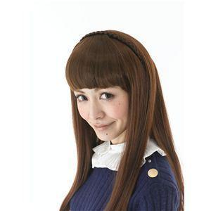 コスプレ女子会・結婚式余興カチューシャ前髪 KT-3 ナチュラルブラウン(耐熱) - 拡大画像