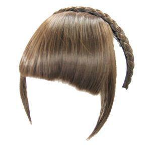 コスプレ女子会・結婚式余興カチューシャ前髪 KT-4 ブラウンゴールド(耐熱) - 拡大画像