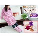 NuKME(ヌックミィ) 2012年Ver ルームシューズ Mサイズ ジラフ柄/ライトブラン