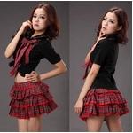 コスプレ 2011新作 赤チェックの可愛い 制服 コスチューム