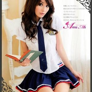 コスプレ 2011新作 女子高生 ミニスカ セーラー服 コスチューム3点セット - 拡大画像