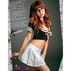 コスプレ 2011新作 胸元セクシー ミニスカ セーラー服 コスチューム3点セット