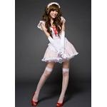 コスプレ 2011新作 白×赤水玉の可愛いメイドさん コスチュームセット