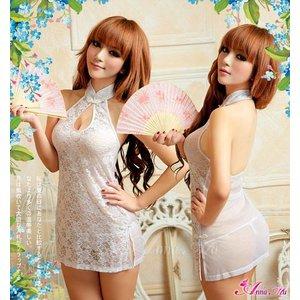 チャイナ服 チャイナドレス コスチューム コスプレ 衣装 白 z1155 - 拡大画像