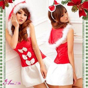 【クリスマスコスプレ】クリスマス☆サンタクロースコスプレセット/コスプレ/コスチューム/衣装/s016-11 - 拡大画像