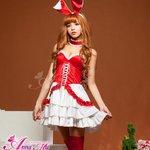 【クリスマスコスプレ】サンタクロースコスプレセット/コスプレ/コスチューム/衣装/s026
