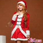 【クリスマスコスプレ】サンタクロースコスプレセット/コスプレ/コスチューム/衣装/s028