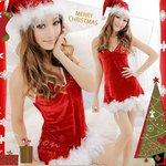 【クリスマスコスプレ】サンタクロースコスプレセット/コスプレ/コスチューム/衣装/f529