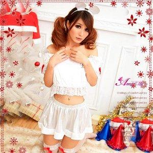 【クリスマスコスプレ】クリスマス☆サンタクロースコスプレセット/コスプレ/コスチューム/衣装/s029 - 拡大画像