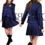 紺ブレザー女子学生服セット【コスプレ/コスチューム/制服/衣装】01010042 Lサイズ