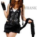 黒猫★ブラックキャットコスチューム【イベント/コスプレ/コスチューム/衣装】01000623