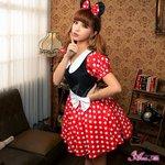ミニーちゃん風 ディズニー Disney コスプレコスチューム 衣装 z1352