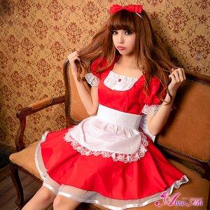 メイド メイド服 ロリィタ コスプレ コスチューム 衣装 z1371 - 拡大画像