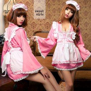 メイド メイド服  和風 着物 ロリィタ  ウェイトレス コスプレ コスチューム 衣装 z1366 - 拡大画像
