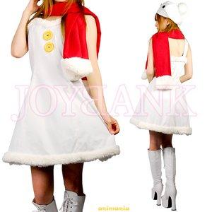 スノーガールワンピース【雪だるま/クリスマス/ミニドレス/コスプレ/コスチューム/衣装】01000540 Mサイズ