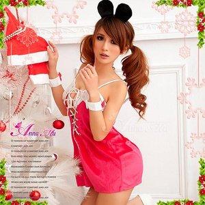 【クリスマスコスプレ】クリスマス☆サンタクロースコスプレセット/コスプレ/コスチューム/衣装/s033 - 拡大画像