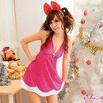 【クリスマスコスプレ】クリスマス☆サンタクロースコスプレセット/コスプレ/コスチューム/衣装/s032-1