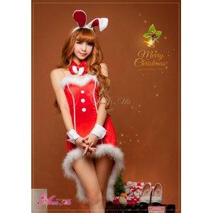 【クリスマスコスプレ】タキシード風サンタバニーコスチューム5点セット/コスプレ/コスチューム/衣装/c371-dの写真2