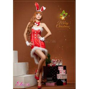 【クリスマスコスプレ】タキシード風サンタバニーコスチューム5点セット/コスプレ/コスチューム/衣装/c371-dの写真3