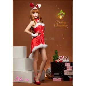 【クリスマスコスプレ】タキシード風サンタバニーコスチューム5点セット/コスプレ/コスチューム/衣装/c371-dの写真4