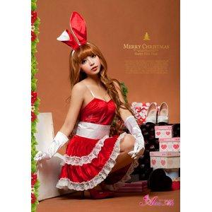 【クリスマスコスプレ】クリスマス☆サンタクロースコスプレセット/クリスマス/制服/サンタ衣装/コスプレ/コスチューム/バニーガール/衣装/s006-dの写真6