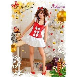 【クリスマスコスプレ】クリスマス☆サンタクロースコスプレセット/クリスマス/制服/サンタ衣装/コスプレ/コスチューム/衣装/s016-1の写真2