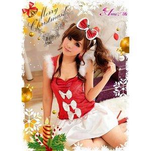 【クリスマスコスプレ】クリスマス☆サンタクロースコスプレセット/クリスマス/制服/サンタ衣装/コスプレ/コスチューム/衣装/s016-1の写真4